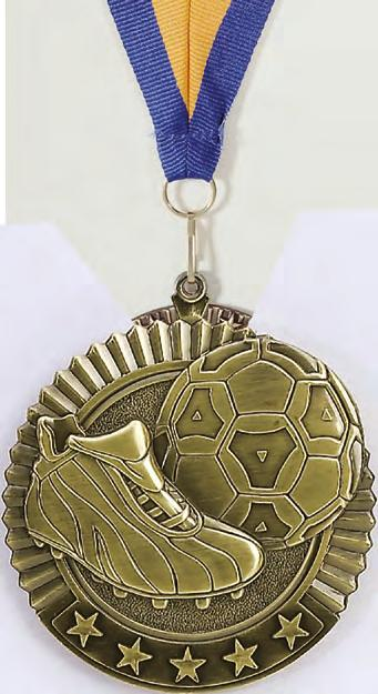 "2 3 4"" Star Medals 10/1 2 3 4"" ACTUAL SIZE The STAR"
