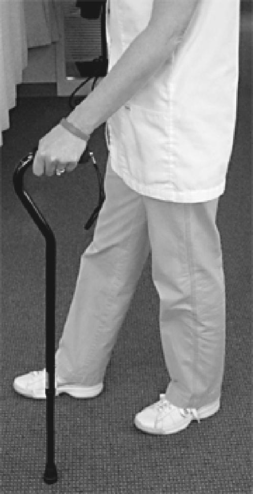 Walking Aide Progression Progressing from a walker to a single-point cane As you begin to put more weight on your operated leg, you may progressively decrease the use of your ambulatory aids.