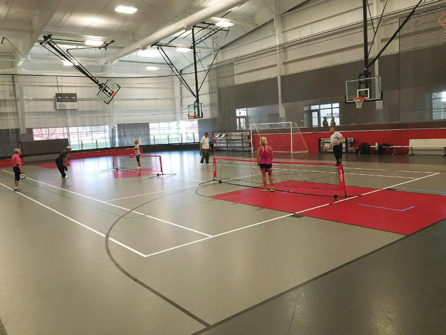 sports are great because you can come when you can. Pay $4/city resident or $5/non city for 2 hours of court play. For dates and times call ahead. (517)278-8566.