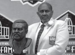 NFL GREATS FORMER Bob Brown (right) became Nebraska s third inductee in the Pro Football Hall of Fame in August of 2004, joining Guy Chamberlin and William (Roy)