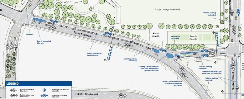 Proposals for Walking/Cycling Network in Viaducts Area HUB Vancouver suggests the following modifications to the City s proposals for the viaducts area including gaps in the City s proposals: Make