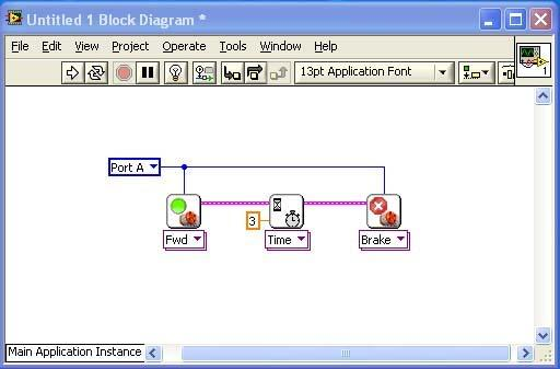LabVIEW programs are called virtual instruments (VI) and every program consists of a front panel and a block diagram as shown below.