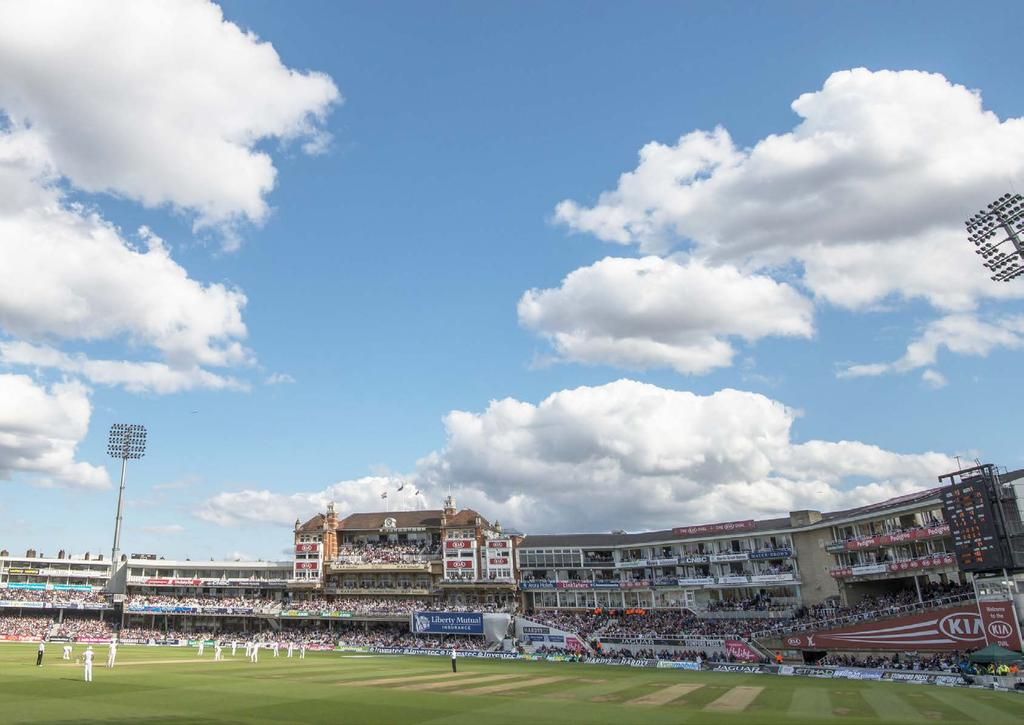 TV COVERAGE AND AUDIENCE England internationals played at the Kia Oval drew a global audience of 2.7 billion viewing minutes.