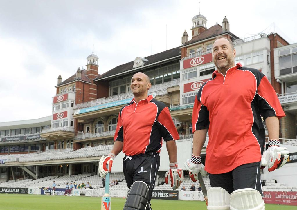 PLAY AT THE KIA OVAL This once in a lifetime opportunity to play on the hallowed turf of the Kia Oval will be available in the summer of 2015.