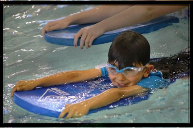 Introduction to Elementary Backstroke: whip kick and zipper arms Safety: Deep water reaching and throwing assists Underwater Exploration: underwater swim for 15 feet Safety: Unassisted rollover and