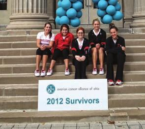 2012-13 WOMEN S GYMNASTICS WHAT S GOING ON THIS FALL Community Service The 2012-13 Buckeyes are teaming up with the Ovarian Cancer Alliance of Ohio to help promote awareness and early detection of