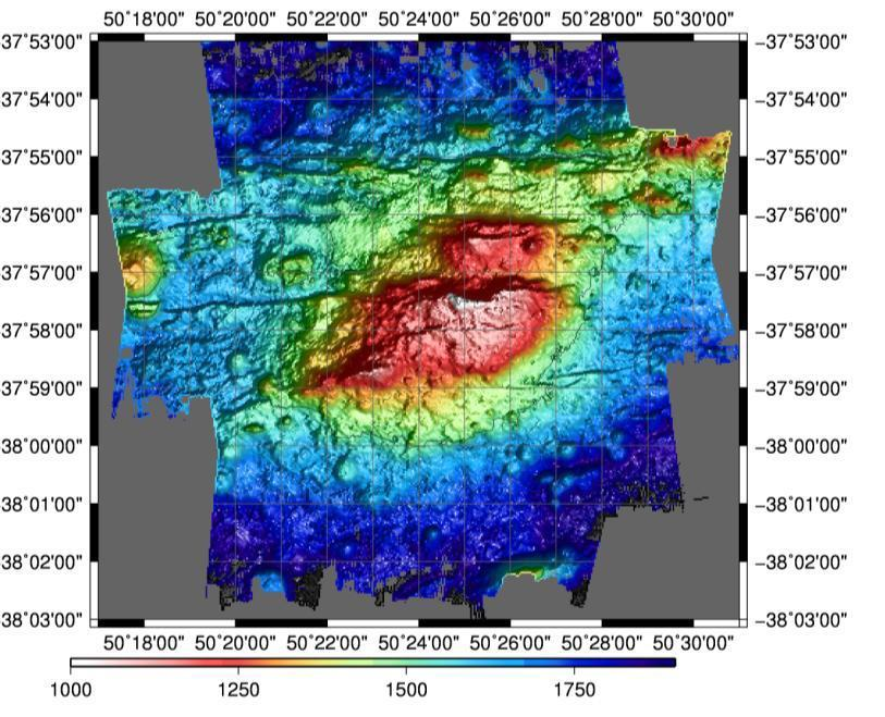 Figure 2 The small volcanic ridge to the side of the main MOW seafloor feature Figure 3 Low resolution mapping