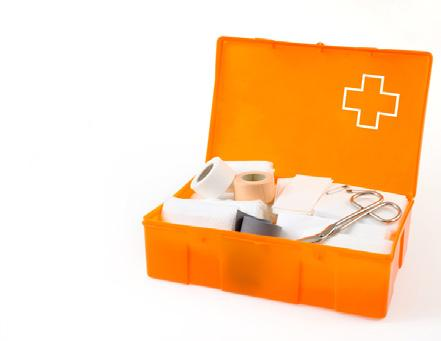Required Safety Equipment First Aid Kit Conveniently located and well marked Contents: continued Item Quantity safety pins 12 adhesive dressings - individually wrapped 24 sterile gauze pads - 7.