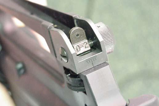 "11. ZEROING THE ""IRON"" SIGHTS Rear Sight Windage Knob Because every shooter sees the sights differently, two shooters may have a different zero on the same rifle. 1."