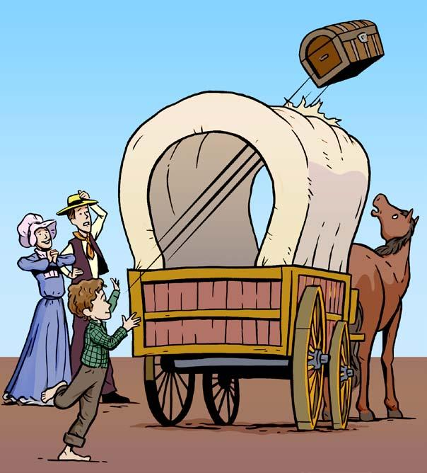 Some boys would have dreaded such a long trip, but not Bill. Yee-haw! he shouted when he heard the news.