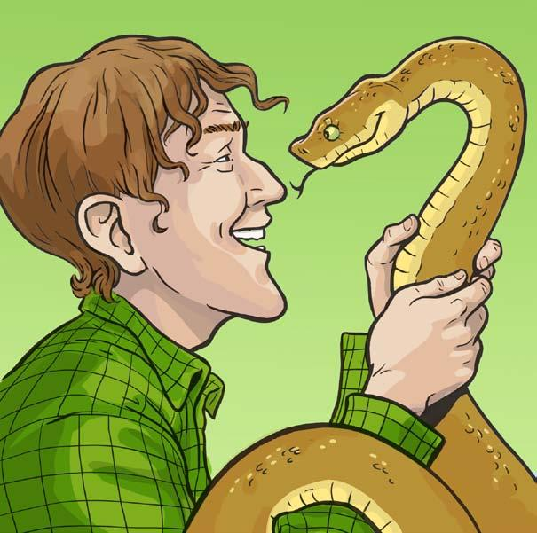 Bill laughed as he pulled the snake off his leg. Well, snake, said Bill, I guess you can come along with us now. The snake curled around Bill s shoulders as friendly as a kitten.
