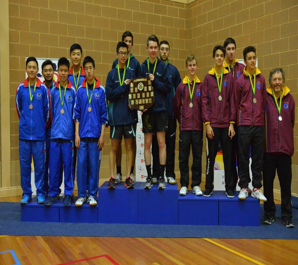 U/15 Girls Presidents Team Mackenzie Gardner U/13 Boys A Team Isaac Hla; Ethan Lim; Finn Luu; Skyy Luu; Brett Sonnet (NPC) U/13 Boys B Team Tim Huang; Nicholas Lum; Nathan Shi; Ethan Tang; Gordon