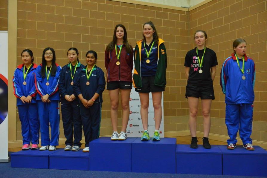 U/15 Girls Doubles Bronze Cindy