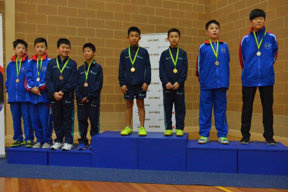 U/13 Boys Doubles Gold Finn Luu / Skyy