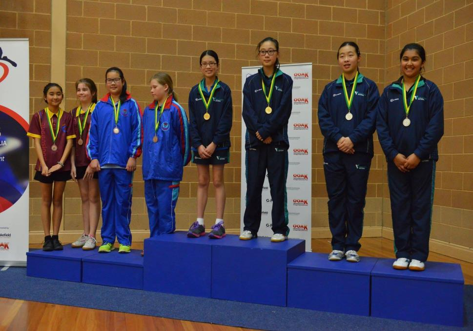 U/13 Girls Doubles Belinda Ai /