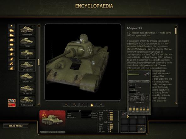 Encyclopedia This section provides historical background about all the military equipment present in the game.