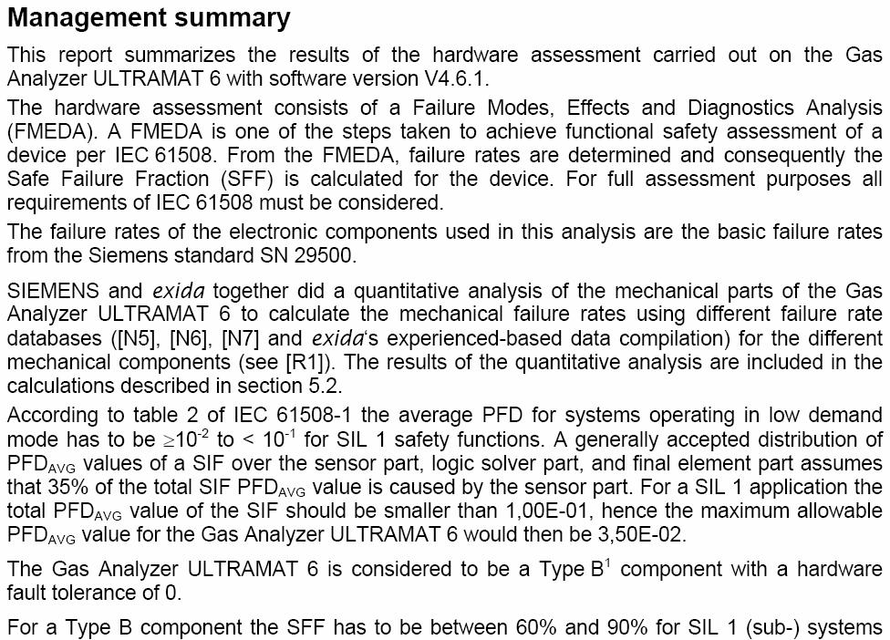 A.2 exida Test Report (extract) SIL