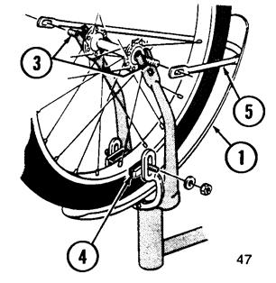 .Front Wheel If the bicycle does not have a front fender, go to Step 2.