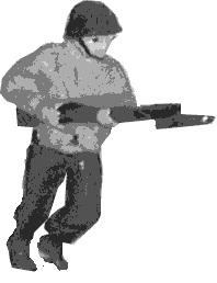 Soldier with rifle or assault rifle that can use bayonet +1 Bayonets do not get this bonus in houses or woods.