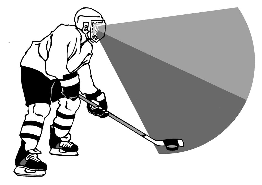 5 Split Vision Split or peripheral vision refers to the ability to see the puck on the stick without looking directly at it. The player s eyes are up reading the play and what options are available.