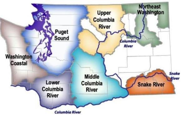 Washington State Salmon Recovery Regions