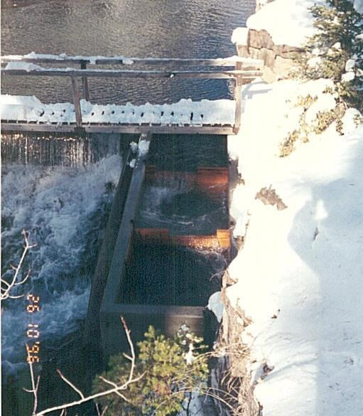 1936: Dam built 1996: Fish ladder