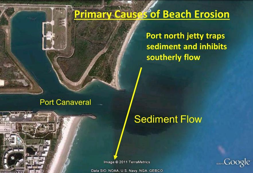 The construction of Port Canaveral and the entrance jetties was completed in 1954.