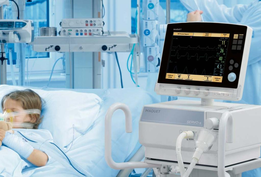 Critical Care SERVO-s 7 The SERVO-s has further been designed to minimize the work of breathing during both the beginning and the end of a breath to provide patient comfort.
