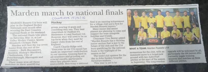 Local Press Coverage in the Courier