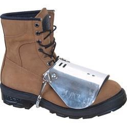 Foot and leg protection choices include the following: Leggings protect the lower legs and feet from heat hazards such as molten metal or welding