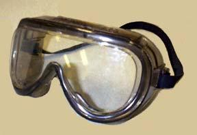 Goggles Protect eyes, eye sockets, and the facial area immediately surrounding the eyes from