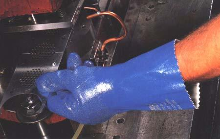 Nitrile provides protection against a wide variety of solvents, harsh chemicals,