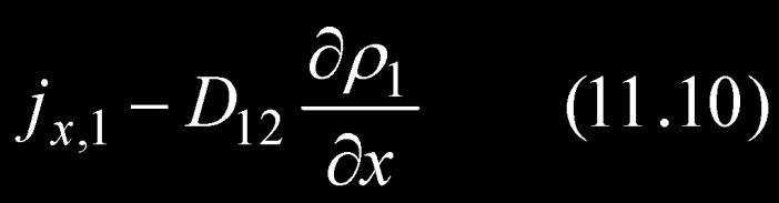 Basic equation for binary mass transfer under isothermal, isobaric,