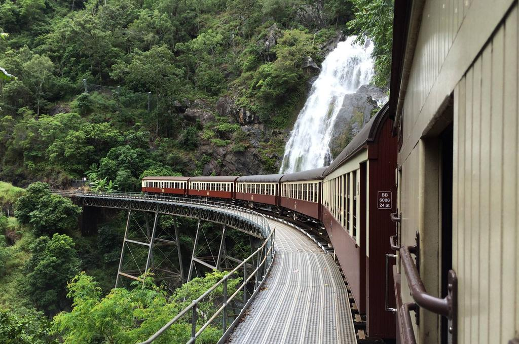 Experience The is an iconic two hour rail journey that meanders its way from Cairns or Freshwater Railway Station, through the World Heritage-listed rainforest of the Barron Gorge National Park, to