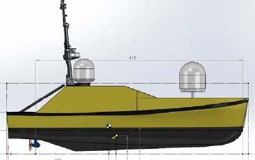 Unmanned Survey Vessel (USV) USV Scales from hand