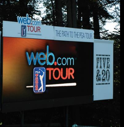 Scoreboard Panel Prominent branding on a panel of a tournament scoreboard of your choice Two