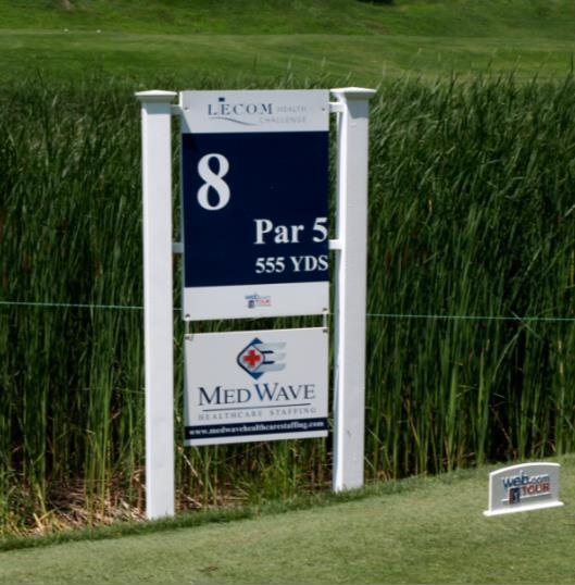 Hole Sponsor Branding on one of the hole signs in tee box of your choice Premium Holes 10,