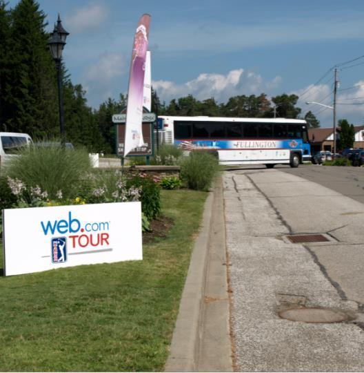 Shuttle Wrap Branding on shuttles bringing spectators and volunteers between the parking lot and tournament play