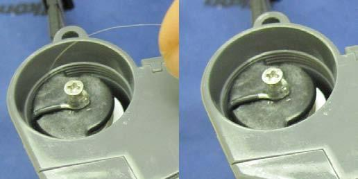 Place the cap lightly in the opening 2. First Turn counterclockwise until it clicks this will help align the threads.