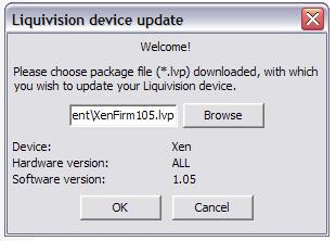 Mac-OSX Firmware Install (all Browsers) Click XEN Software History (http://liquivision.com/downloads/xensoftwarehistory.php) to download the latest XEN firmware.