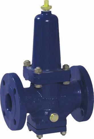 Ductile cast iron Simple pressure reducing valve for general industrial applications, aboard ships and in the installation industry. The single seated balanced disc guarantees a smooth operation.