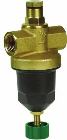 BSP thread Brass Simple, efficient pressure reducing valve, in which the pressure spring does not contact the medium. Purpose: compressed air and other non-hazardous gases. Max.