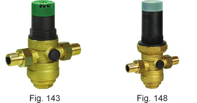 Purpose: water, other non-aggressive liquids, compressed air and nitrogen. Max. inlet pressure and temperature 25 bar - 70 C Minimum differential pressure 1 bar Downstream pressure range 1.5-6 bar 0.