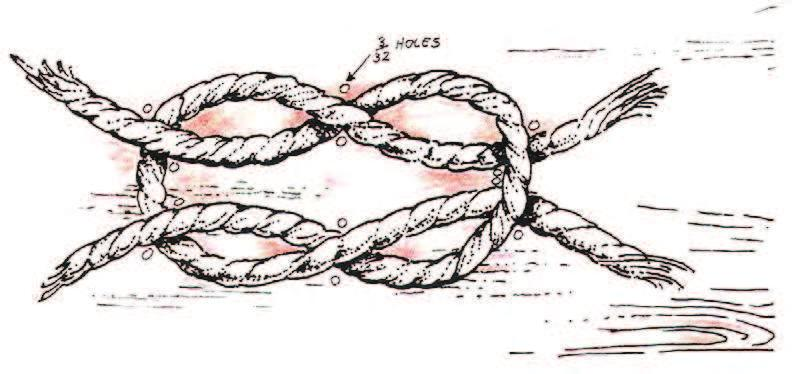Knot Board Learn to tie the four basic camping knots as illustrated as well as others