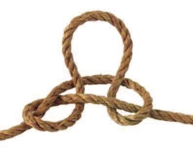 To tie: make a loop in the rope and fold it forward and slightly to the