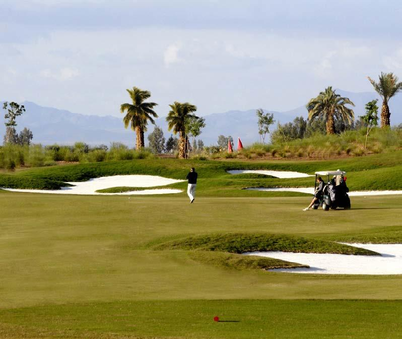 THE GOLF COURSES Samanah Country Club Samanah Golf & Country Club is one of the newest courses in Marrakech, and 6800m from the back tees it s the longest, and provides a terrific test of golf