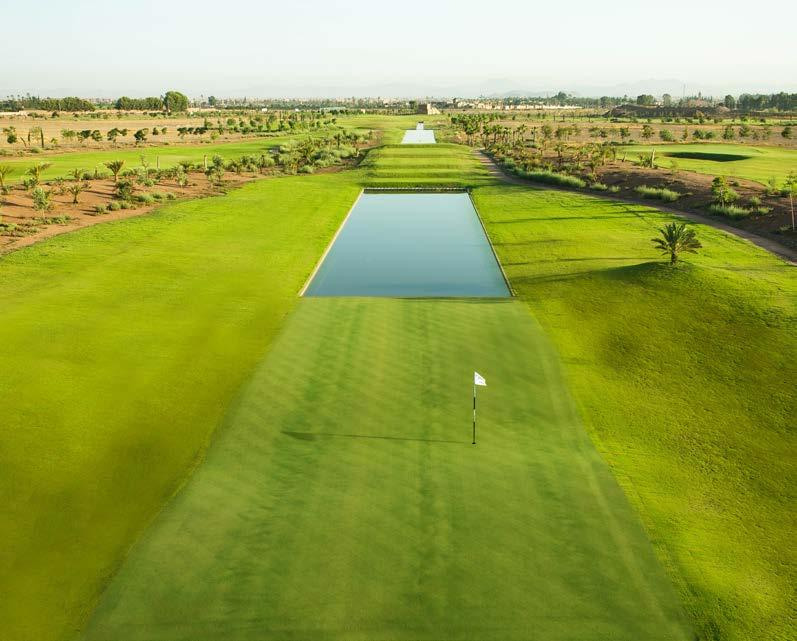 THE GOLF COURSES Noria Golf Club Noria Golf Club at Domaine de Noria in Marrakech, Morocco, is a par-72, eighteen-hole championship golf course that measures 6,589 metres (7,206 yards) from the