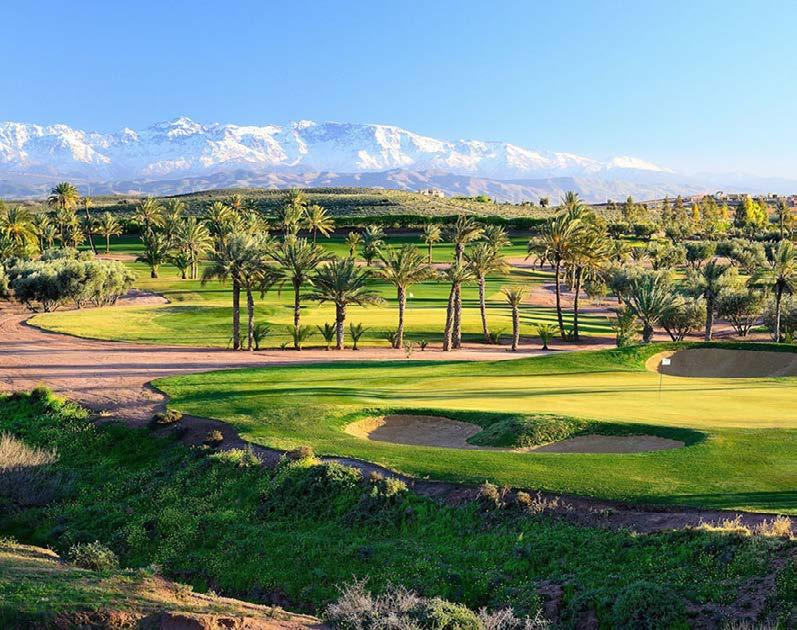 THE GOLF COURSES Assoufid Golf Club Set against the backdrop of the snow-capped Atlas Mountains, Assoufid Golf Club s 18-hole, par-72 golf course winds its way through a unique, naturally undulating