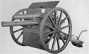 Slide 14 The Pre War Artillery Revolution The French 75 mm Because the hydraulic cylinder could absorb the blast, the gun barrel and the carriage could be considerably lighter.