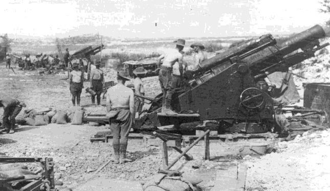 Slide 25 Australian Battery of 8 Inch Howitzers NB